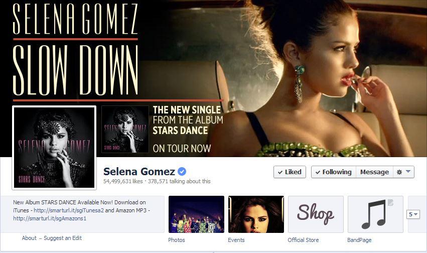 فیس بوک سلنا 54.5 میلیون لایک خورد!