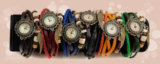 خرید ساعت الیزابت بند چرمی دخترانه