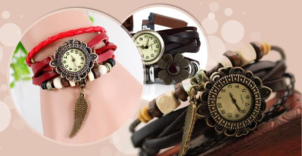 خرید ساعت دخترانه بند چرم
