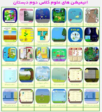 انیمیشن های آموزشی علوم دوم ابتدایی