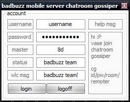 Badbuzz Mobile Server Chatroom Gossiper Chatroom_gossiper