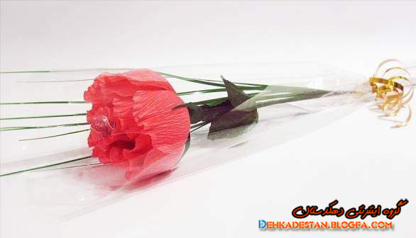 آموزش تصويري تزيين شكلات براي روز عشق يه شكل گل