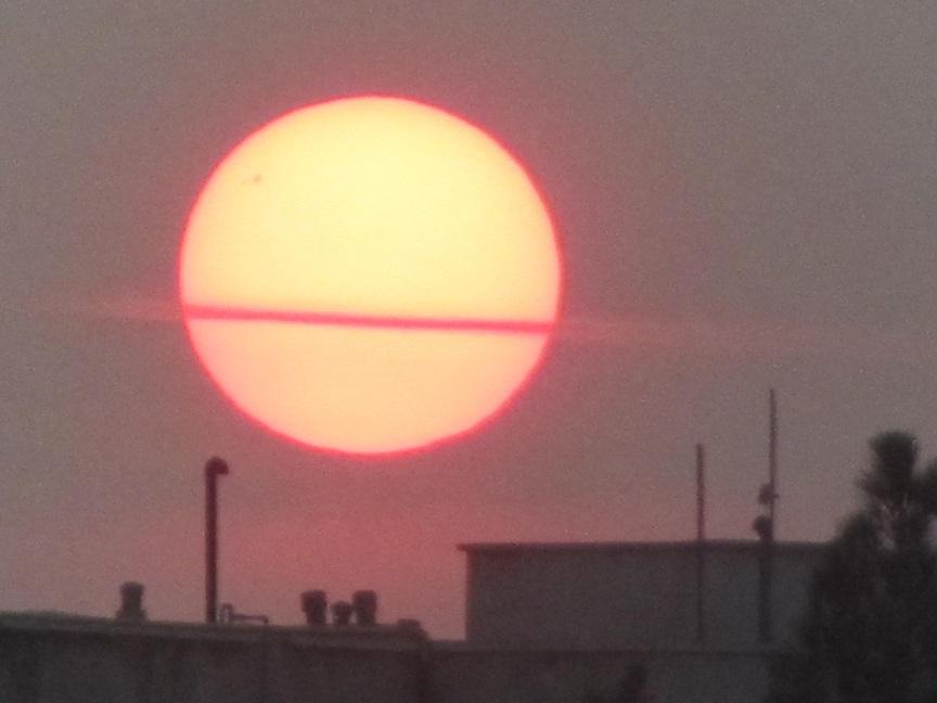 عکسی زیبا از غروب خورشید