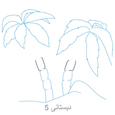 آموزش گام به گام نقاشی درخت