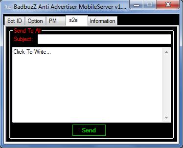 BadbuzZ Anti Advertiser MobileServer v1.0 By ToOfan -4n@n.c An4