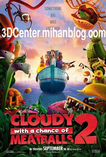 دانلودانیمیشن سه بعدی Cloudy with a Chance of Meatballs 2 2013