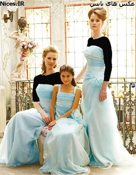 لباس ساقدوشی آبی فیروزه ای