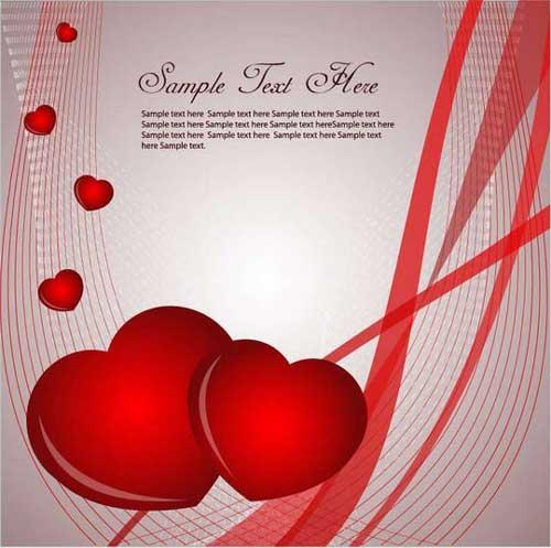 کارت پستال قلب عاشقانه