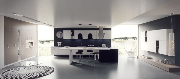 آشپزخانه هایی با کابینت ، رنگ بندی و نور جذاب