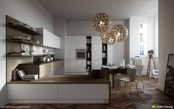 کابینت در آشپزخانه ، جزیره در آشپزخانه ، اوپن در آشپزخانه