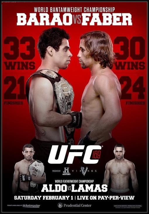 دانلود یو اف سی 169 | UFC 169 : Barao Vs. Faber
