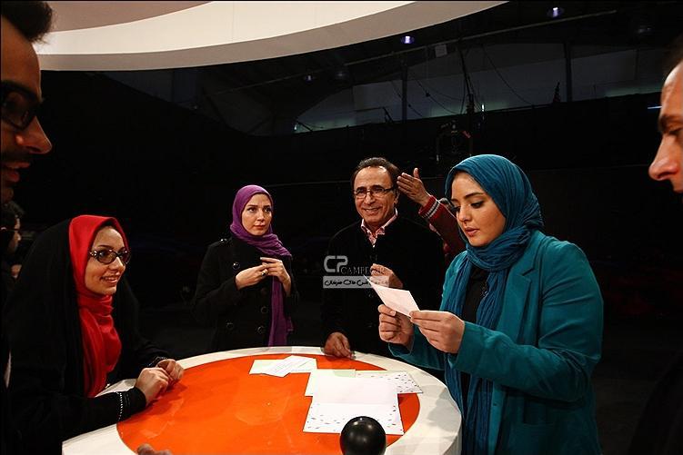 نرگس محمدی و حدیث میرامینی در برنامه مشاعره ستارهها