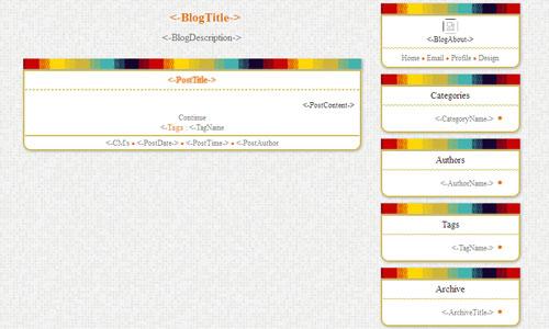 قالب رنگی بلاگفا