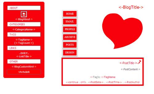 قالب عاشقانه برای بلاگفا