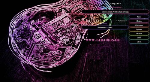 قالب گیتار الکتریک برای بلاگفا