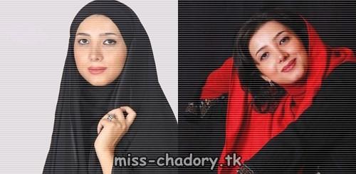 مرجان سپهری با چادر