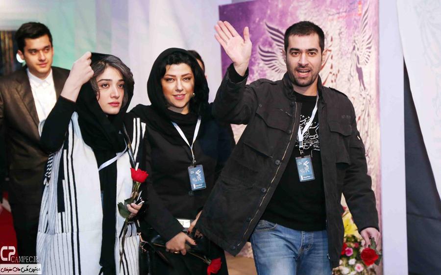شهاب حسینی و همسرش و مینا ساداتی