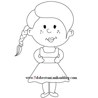 طرح فانتزی عروسک برای نقاشی پیش دبستانی تا ششم ابتدایی