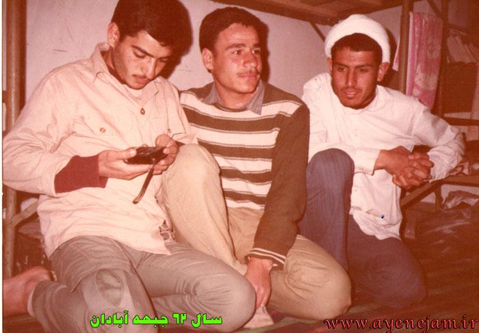 گنجی امام جمعه جم در جبهه جنگ