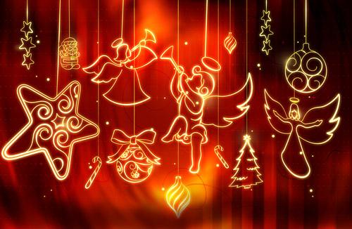 لایه باز زیور آلات کریسمس درخشان