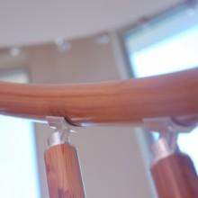 نرده آلومینیوم چوب