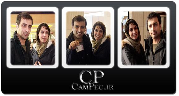 عکس های امین زندگانی و همسرش الیکا عبدالرزاقی در جشنواره فیلم فجر