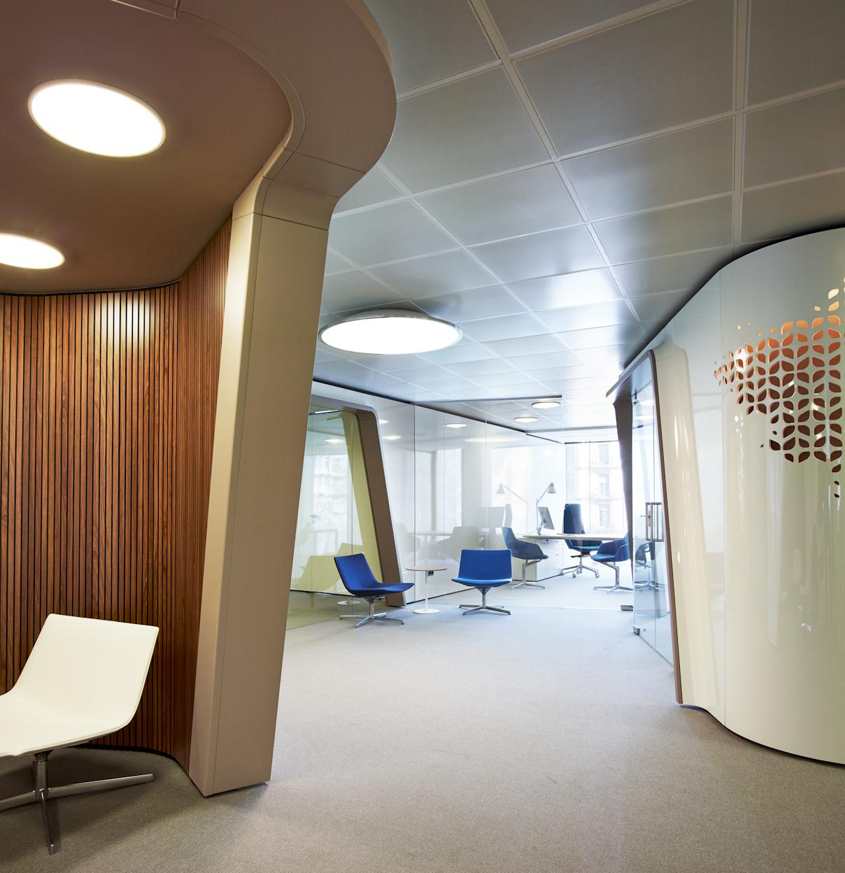 طرحی خاص برای دفتر مرکزی یک کمپانی در بارسلون