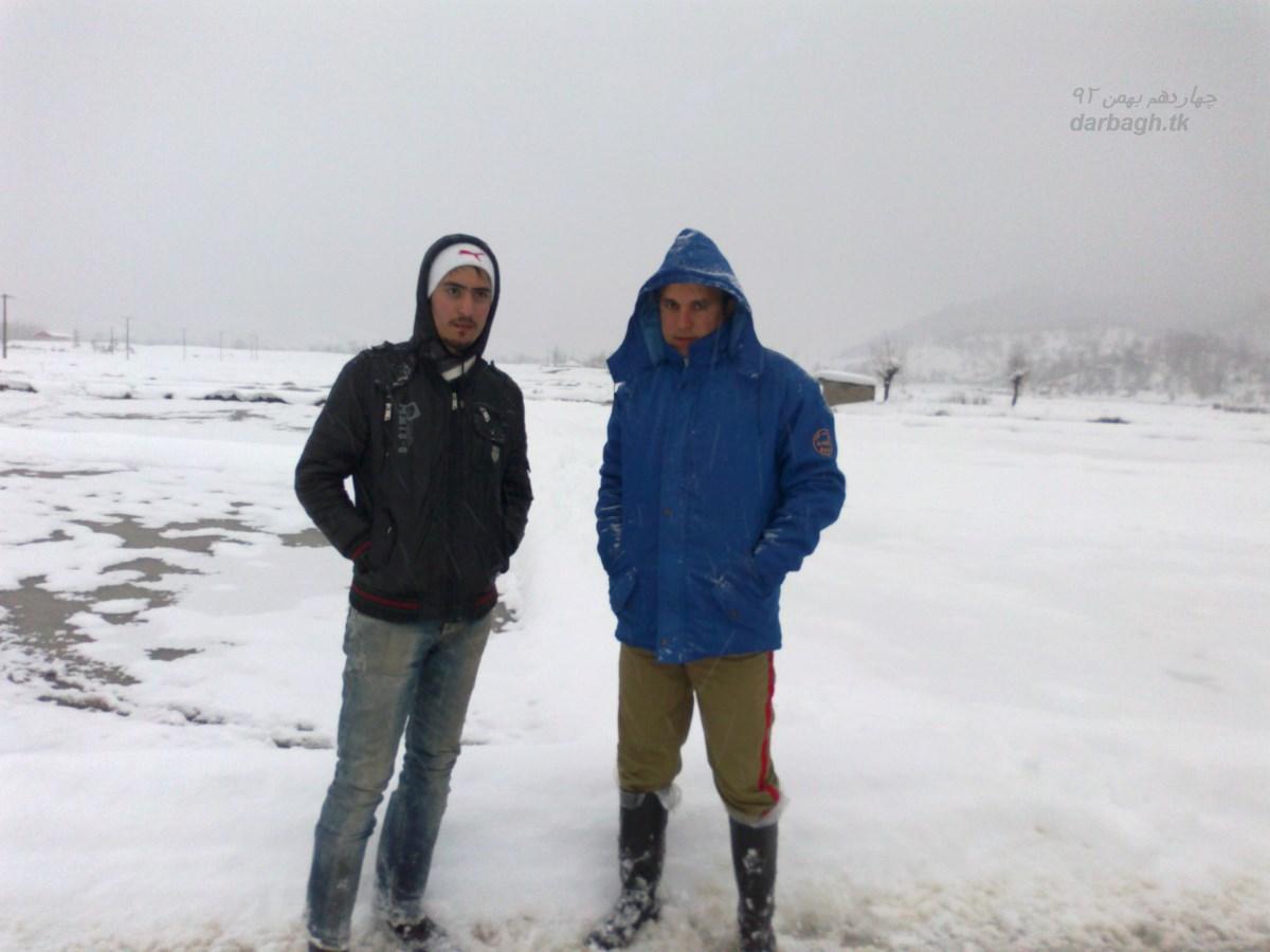 barf darbagh tk 14 11 15  برف روستای دارباغ 14 بهمن 92