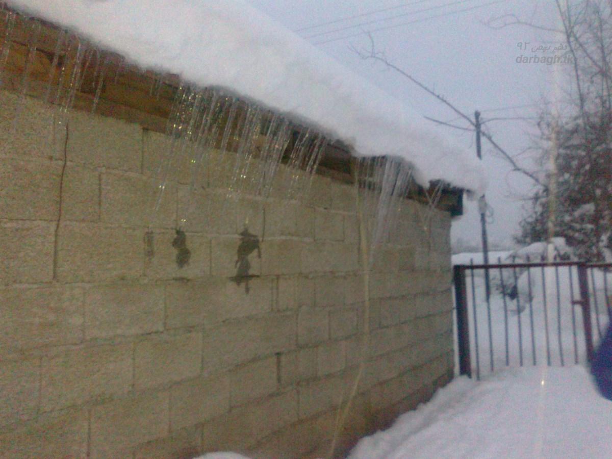 barf darbagh tk 14 11 19  برف روستای دارباغ 14 بهمن 92