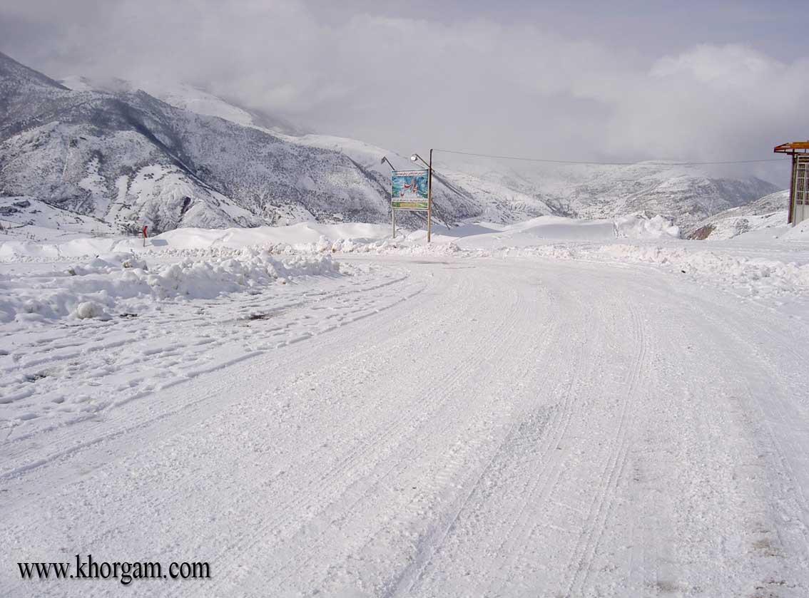 جاده های برف خورگام