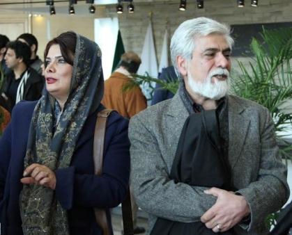 حسین پاکدل و همسرش عاطفه رضوی