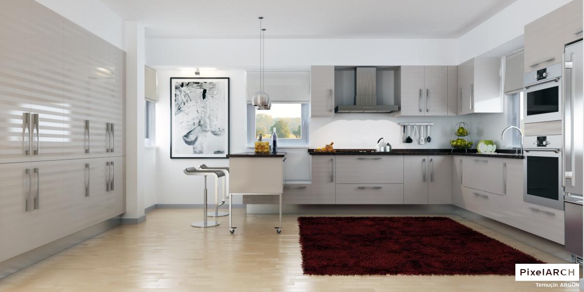 انواع کابینت، جزیره و اوپن در آشپزخانه شماره 3