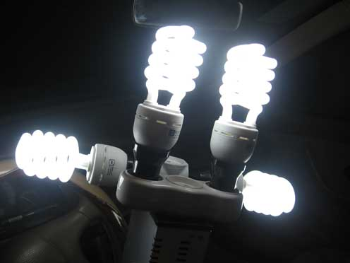 تبدیل برق ماشین به 220 -  چهار لامپ روشن