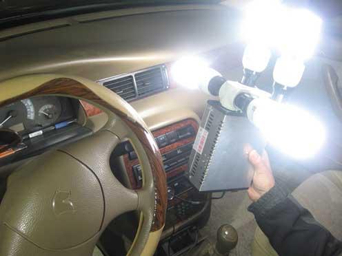 تبدیل برق ماشین به 220 - روشن کردن چهار لامپ
