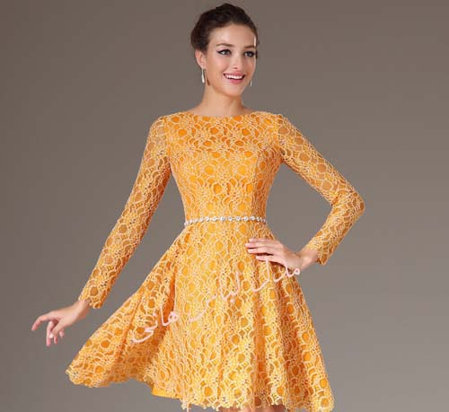 مدل لباس کار شده گیپور دخترانه 2014