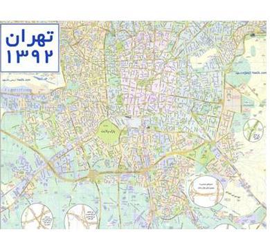 دانلود نقشه تهران ۹۲ با کیفیت بالا