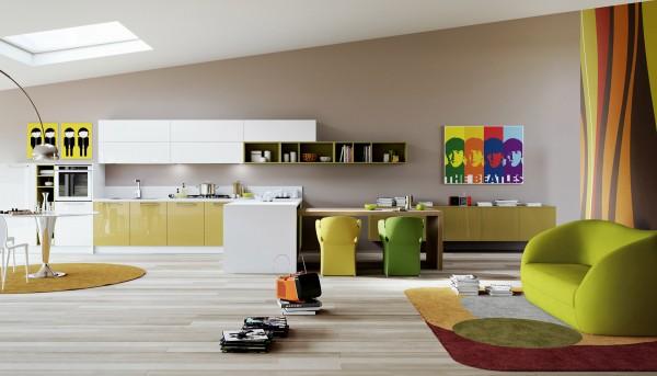 کابینت آشپزخانه ، جزیره و اپن در آشپزخانه