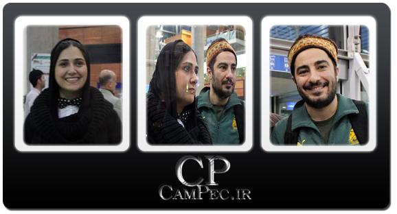 عکس های بازگشت باران کوثری و نوید محمدزاده به ایران