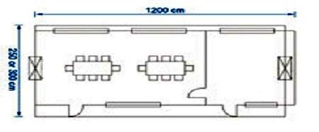 کانکس 12 متری 2 اتاقه