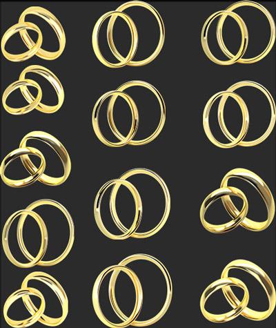 آیکون های حلقه طلا