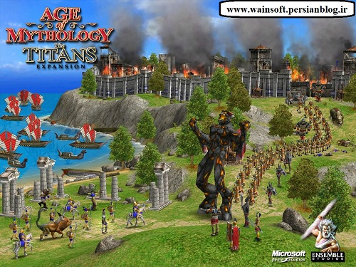 دانلود بازی age of mythology the titans expension