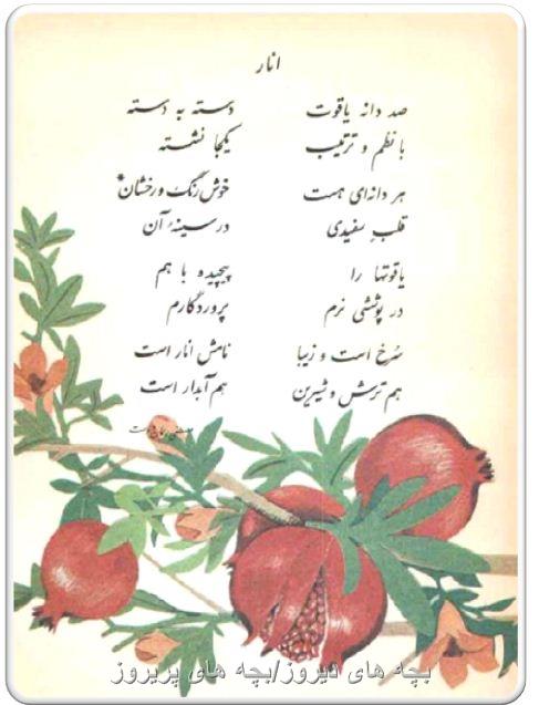 شعر زیبای انار-دوم دبستان69