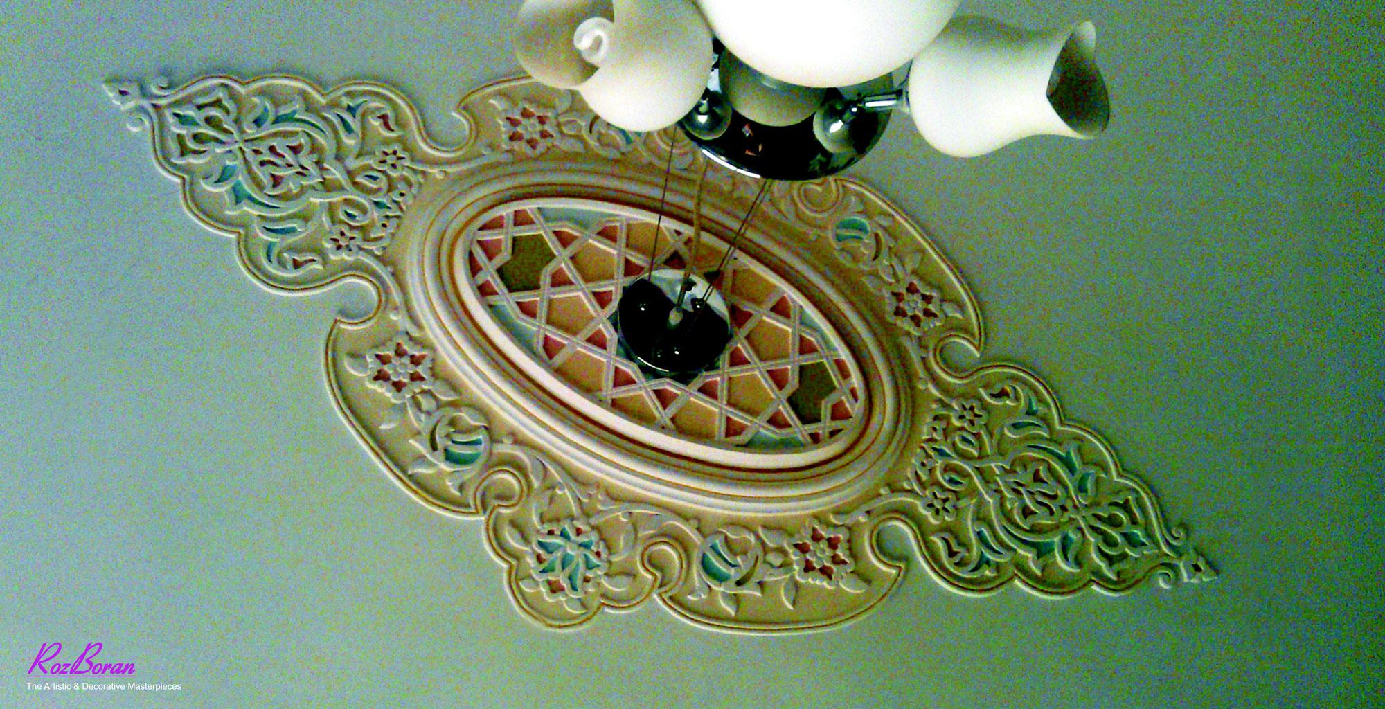 گچبری سقف اتاق
