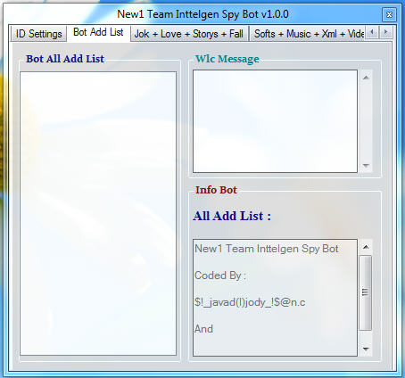 New1 Team Inttelgen Spy Bot v1.0.0 Ty4646