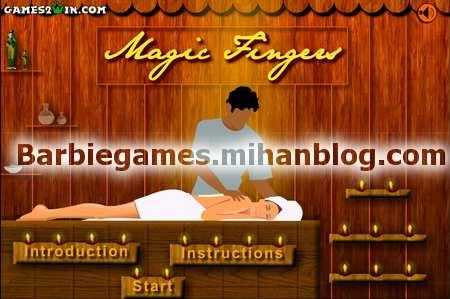 بازی باربی ماساژ جادویی