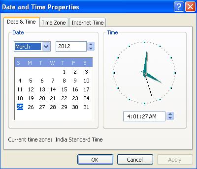 نحوه تنظیم ساعت سیستم