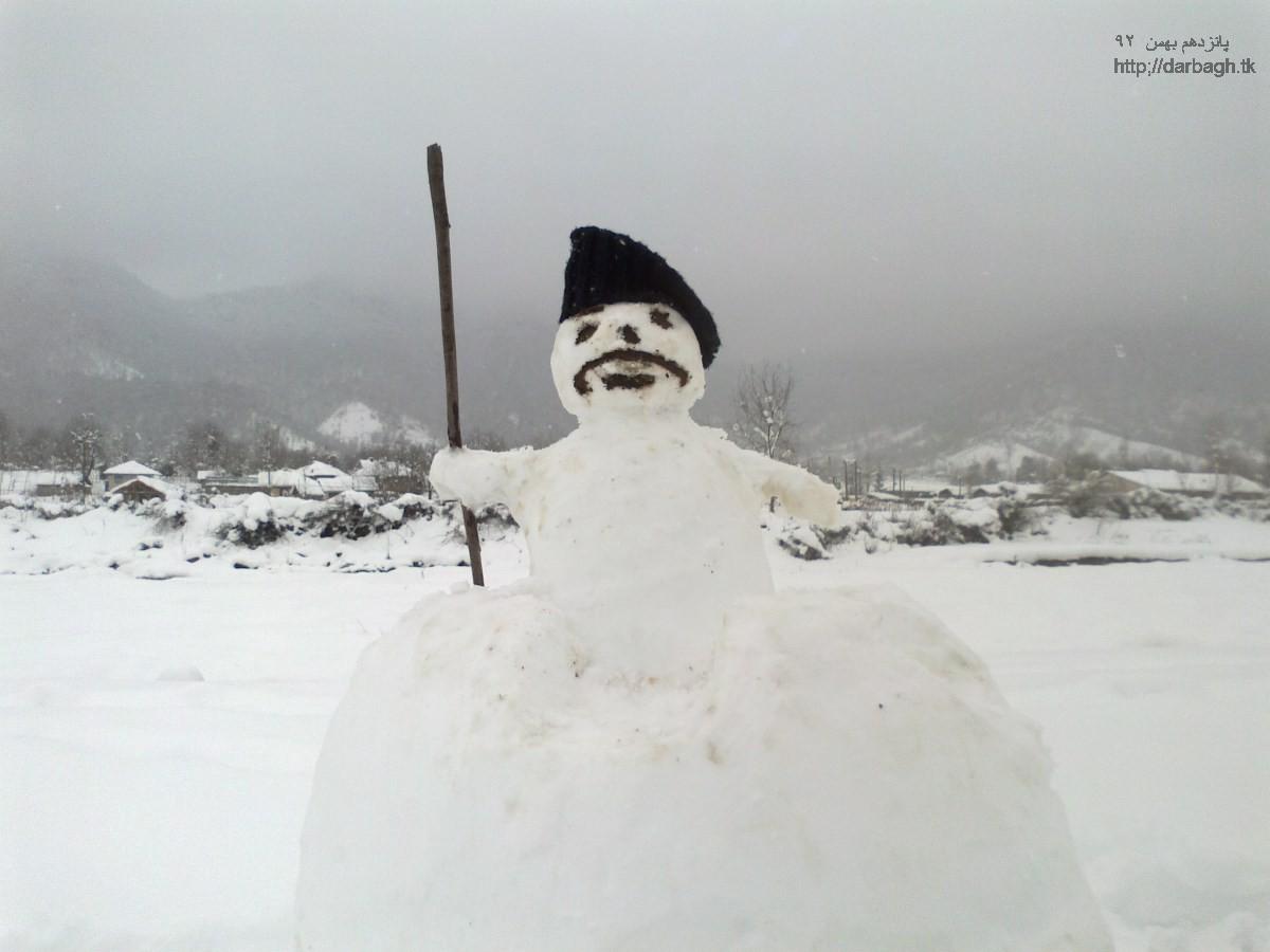 barf darbagh15 11 92 برف دارباغ 16 بهمن 92