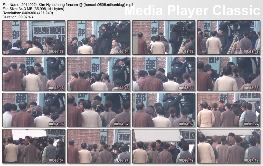 [lyna HJ Fancam] Kim Hyun Joong Inspiring Generation Shooting in Seodaemun Prison History Hall [14.02.24]