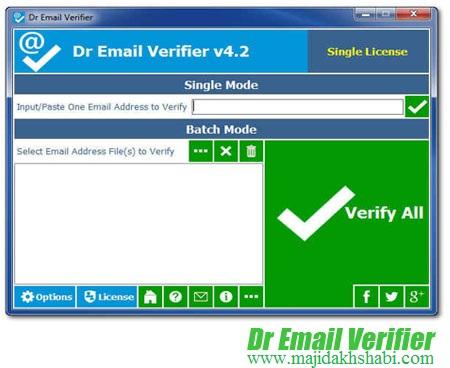 نرم افزار شناسایی ایمیل های معتبر Dr Email Verifier 4.2