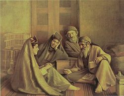 فالگیر یهودی تابلو منتسب به کمال الملک یهودی